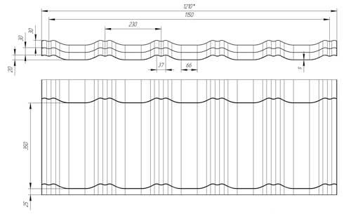 Схема черепицы Grand Line Kvinta